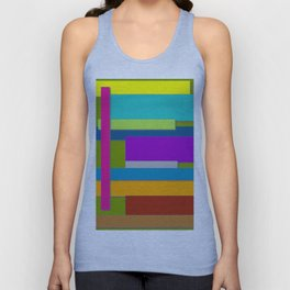 Colorful Artwork, Colorful Design, Graphic Design, Colorful Rectangles Unisex Tank Top