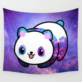Kawaii Galactic Mighty Panda Wall Tapestry