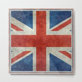 Square Union Jack retro style, made for the Pillows, Duvets and Shower curtains Metal Print