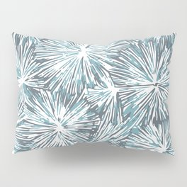 Underwater Plant Life in Blue-Green and Gray Pillow Sham