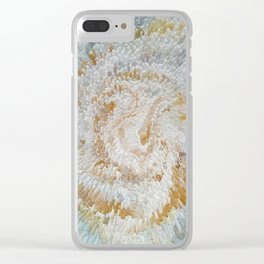 Abstract gold roses Clear iPhone Case