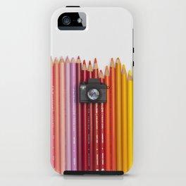 Crayons & Tiny Tiny Camera iPhone Case