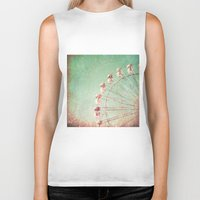 ferris wheel Biker Tanks featuring Ferris Wheel by Caroline Mint
