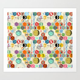 Math in color (little) Art Print