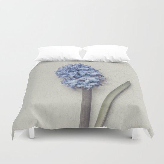 One Light Blue Hyacinth Duvet Cover