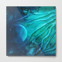 Space squid Metal Print