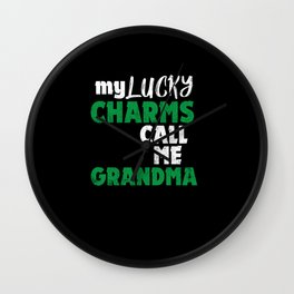My Lucky Charms Call me Grandma Wall Clock