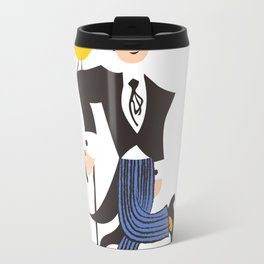 Man and bird Travel Mug
