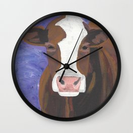 A Cow Named Beulah Wall Clock