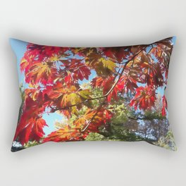 Sunshine Through the Acer Leaves Rectangular Pillow