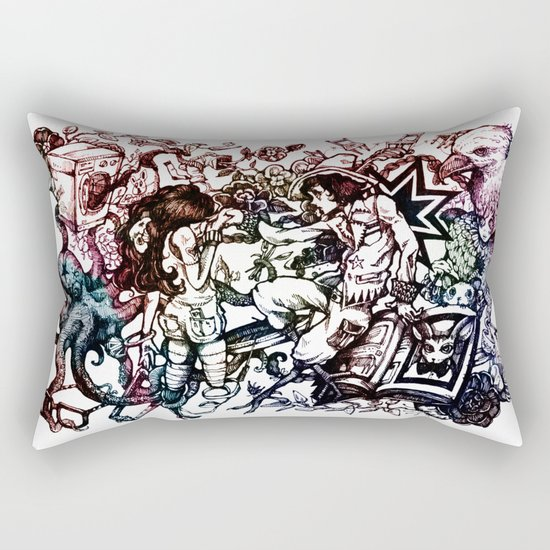 Domestic Parade Rectangular Pillow