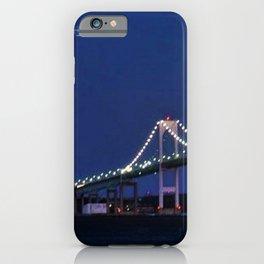 Full Moon and the Newport Bridge at Twilight- Newport, Rhode Island iPhone Case