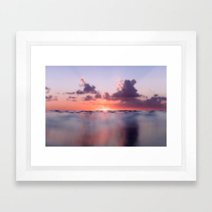Mexico Surf Sunrise Framed Art Print