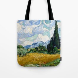Vincent Van Gogh Wheat Field With Cypresses Tote Bag