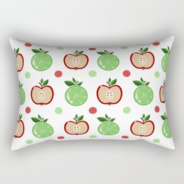 Apples and Lime Rectangular Pillow