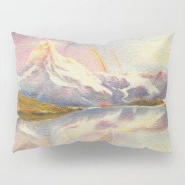 Matterhorn with Rainbow - Swiss Mountain Landscape Pillow Sham