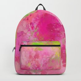 Pink neon green abstract look Backpack