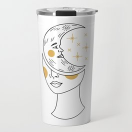 Crescent Moon Girl Travel Mug