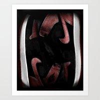 Banned Jordans Art Print