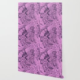 Tangled Fuschia Wallpaper