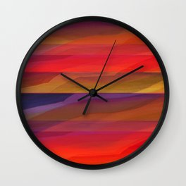 Seascape in Shades of Red and Purple Wall Clock