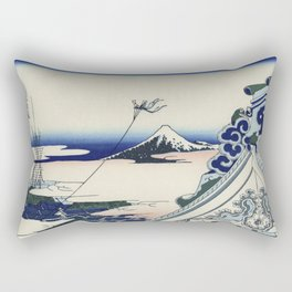 Hokusai Katsushika - Honganji Temple At Asakusa In The Eastern Capital Rectangular Pillow