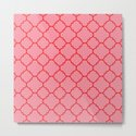 Quatrefoil - Pink & Red  by dizanadesigns