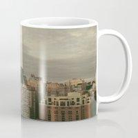 philadelphia Mugs featuring Philadelphia by Katie Leva