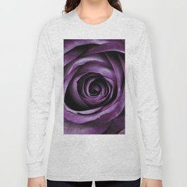 Purple Rose Decorative Flower Long Sleeve T-shirt