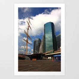 South Street Seaport - New York City 2009 Art Print