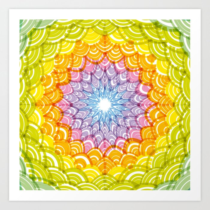Abstract Round Wreath composition rainbow frame. simple Nature ...