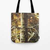 woodland Tote Bags featuring Woodland by BURNEDINTOMYHE∆RT♥