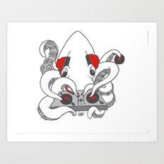 Low Key squiDJ Art Print