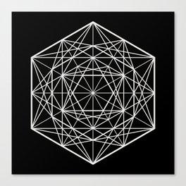 Geometric Mandala (White) Canvas Print