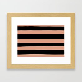 Pratt and Lambert Earthen Trail 4-26 Hand Drawn Fat Horizontal Lines on Black Framed Art Print