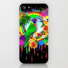 Rainbow Lorikeet Parrot Art iPhone Case