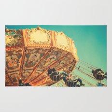 Vintage Chain Swing Ride on Blue Sky  Rug