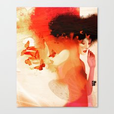 Madame butterfly solo orange  Canvas Print