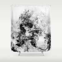 silent Shower Curtains featuring Silent Hill by RIZA PEKER