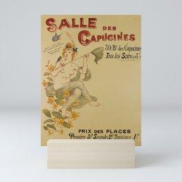 Affiche salle des capucines. 1891  Mini Art Print