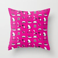 memphis Throw Pillows featuring Memphis by Yuki Chen