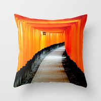 japan Throw Pillows featuring Japan by very giorgious