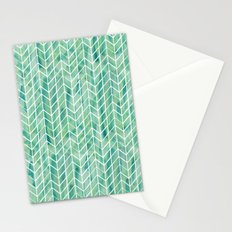 Caribbean green watercolor pattern Stationery Cards