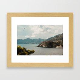 cinque terre coast Framed Art Print