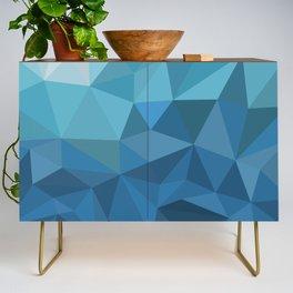 blue geometric Credenza