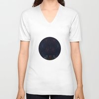 night sky V-neck T-shirts featuring Night Sky by Suchita Isaac