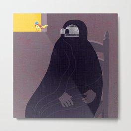 burqa Metal Print