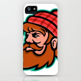 Paul Bunyan Lumberjack Mascot iPhone Case