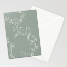 Song Birds on a Wire  Stationery Cards