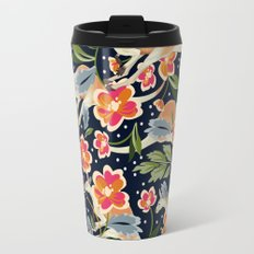 Pattern flowers and kangaroo Travel Mug